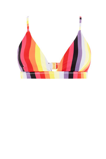Warehouse, RAINBOW STRIPE BIKINI TOP Multi 0