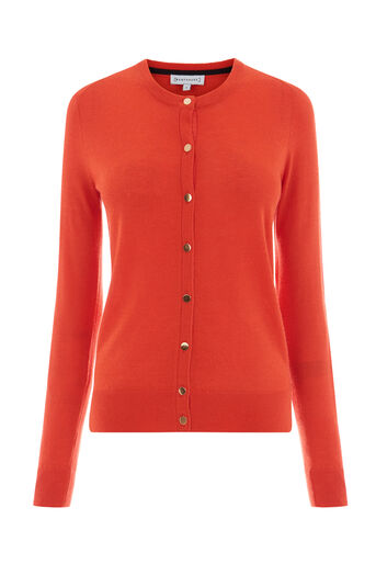 Warehouse, CREW CARDI Bright Red 0