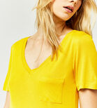 Warehouse, V NECK SMART TEE Mustard 4