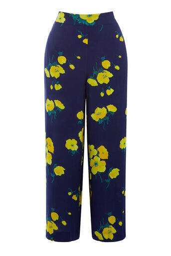 Warehouse, DELIA FLORAL CULOTTE Blue Pattern 0