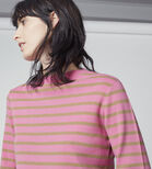 Warehouse, STRIPE HIGH NECK JUMPER Pink Stripe 4