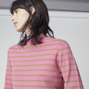 Warehouse, STRIPE HIGH NECK JUMPER Pink Stripe 4