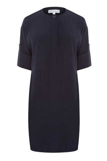 Warehouse, POPPER DETAIL DRESS Navy 0