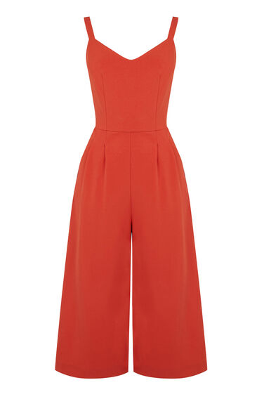 Warehouse, COMPACT CREPE JUMPSUIT Coral 0