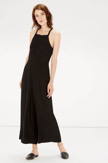 Warehouse, STRAPPY CULOTTE JUMPSUIT Black 0