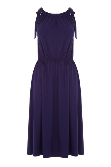 Warehouse, TIE SHOULDER DRESS Navy 0