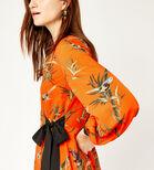 Warehouse, SONGBIRD WRAP MIDI DRESS Orange 4