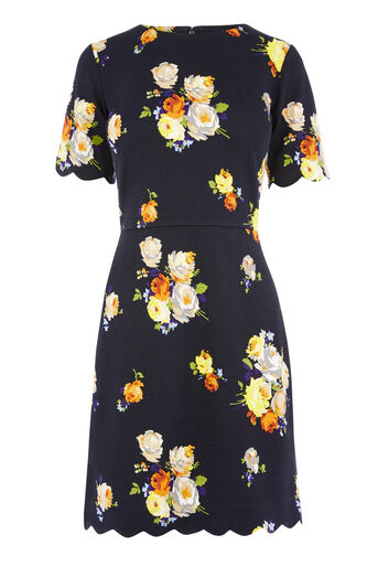 Warehouse, VICTORIA PRINT PONTE DRESS Multi 0