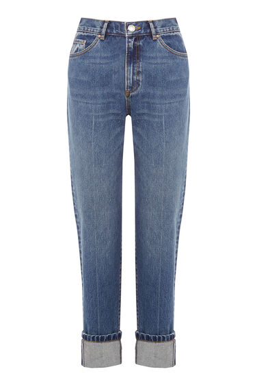 Warehouse, Pin Up Jeans Mid Wash Denim 0