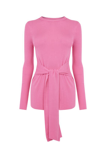 Warehouse, TIE WAIST JUMPER Bright Pink 0