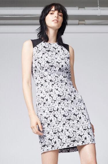 Warehouse, DAISY PRINT SLEEVELESS DRESS Black Pattern 1