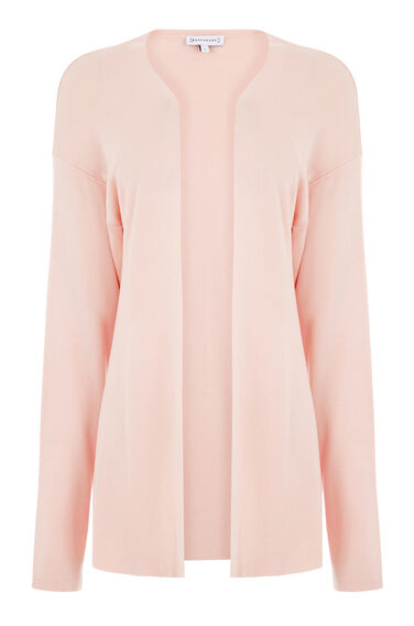 Warehouse, EDGE TO EDGE CARDI Light Pink 0
