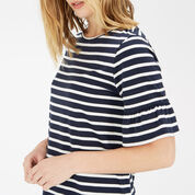 Warehouse, STRIPE FLUTE SLEEVE DRESS Blue Stripe 4
