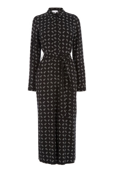 Warehouse, MINI PAISLEY JUMPSUIT Black Pattern 0