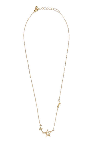 Warehouse, Multi Star Necklace Gold Colour 1