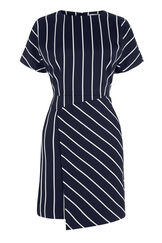 Warehouse, STRIPE DRESS Black Stripe 0