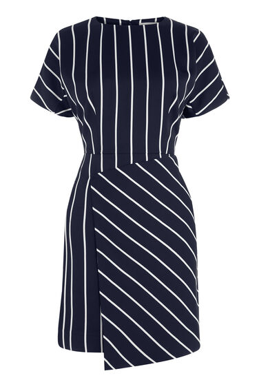 Warehouse, STRIPE DRESS Black Stripe 0