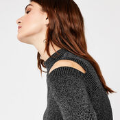 Warehouse, SLASH SLEEVE RIB JUMPER Dark Grey 4