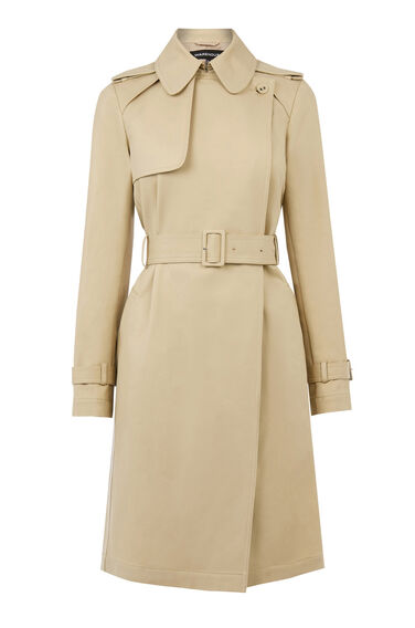 Warehouse, Clean Belted Trench Coat Stone 0
