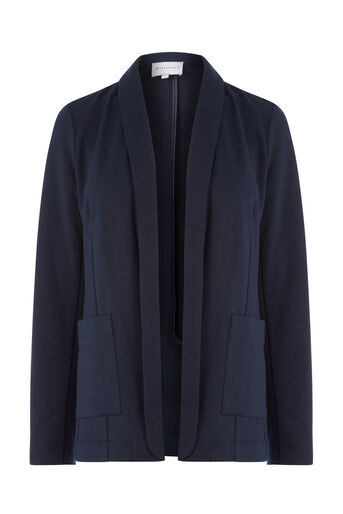 Warehouse, PONTE JACKET Navy 0