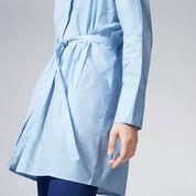 Warehouse, TIE WAIST SHIRT DRESS Light Blue 4