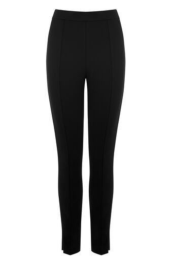 Warehouse, PONTE TROUSERS Black 0