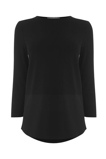 Warehouse, BUTTON BACK TOP Black 0