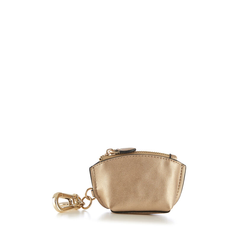 Warehouse, KEYRING PURSE Gold Colour 1