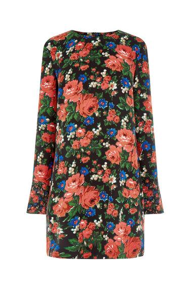 Warehouse, LUPITA ROSE SHIFT DRESS Red Pattern 0