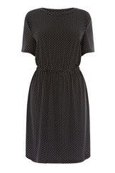 Warehouse, MINI DOT DRESS Black Pattern 0