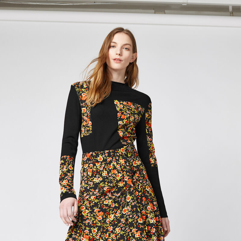 Warehouse, PATCHWORK PRINT JUMPER Multi 1