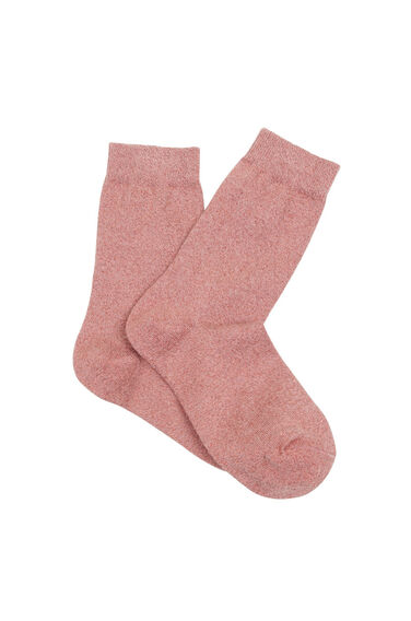 Warehouse, Shimmer Metallic Socks Dark Pink 0