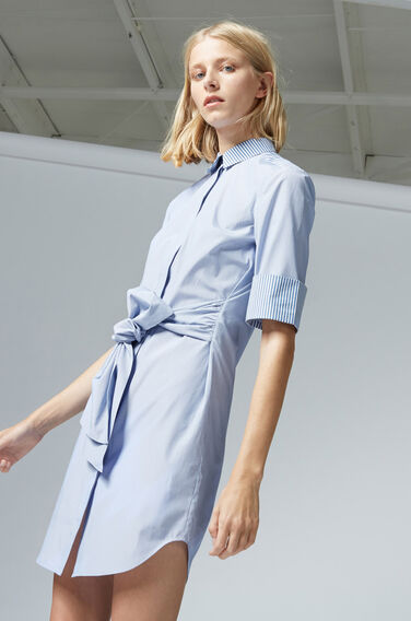 Warehouse, STRIPE SHIRT DRESS Blue Stripe 1