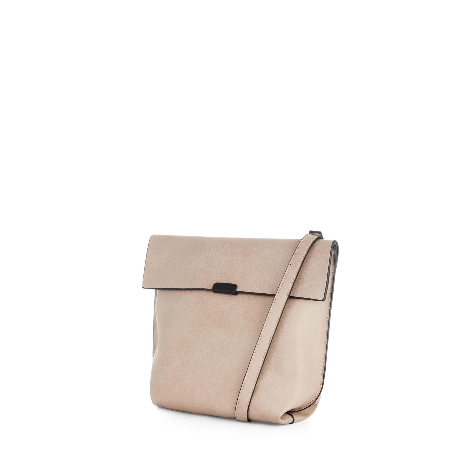 Warehouse, Bonded Crossbody Bag Mink 1