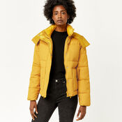 Warehouse, POCKET DETAIL PADDED COAT Mustard 1