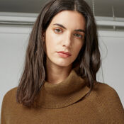 Warehouse, RIB CURVE HEM COWL NECK JUMPER Mustard 4