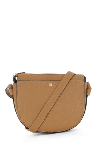 Warehouse, POCKET POPPER CROSSBODY BAG Camel 0