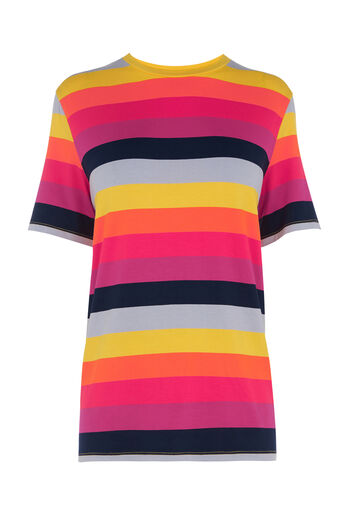 Warehouse, RAINBOW STRIPE TEE Multi 0