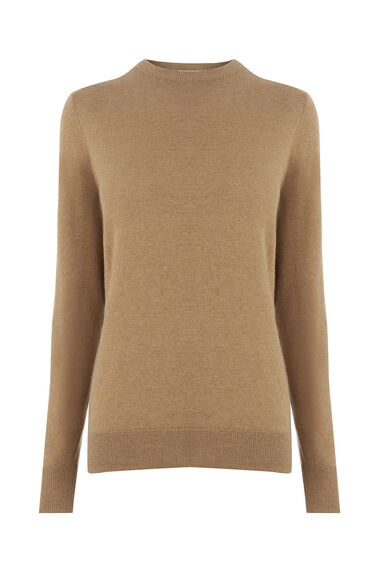 Warehouse, CREW JUMPER Camel 0