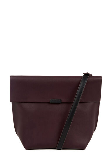 Warehouse, Bonded Crossbody Bag Berry 0