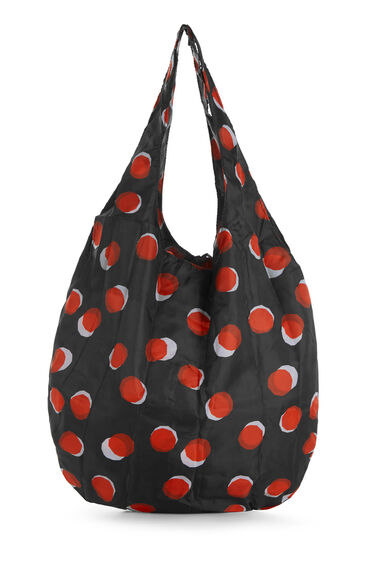 Warehouse, TOFFEE PENNY SHOPPER BAG Black Pattern 0