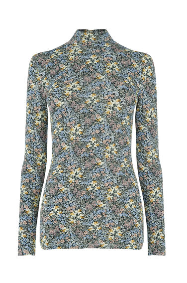 Warehouse, GARDEN POSY POLO TOP Multi 0