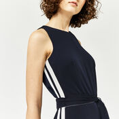 Warehouse, STRIPE SIDE JUMPSUIT Navy 4