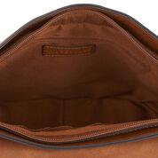 Warehouse, Large Saddle Cross Body Bag Tan 4