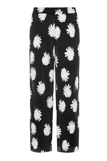Warehouse, DAISY FLORAL PLISSE CULOTTES Black Pattern 0