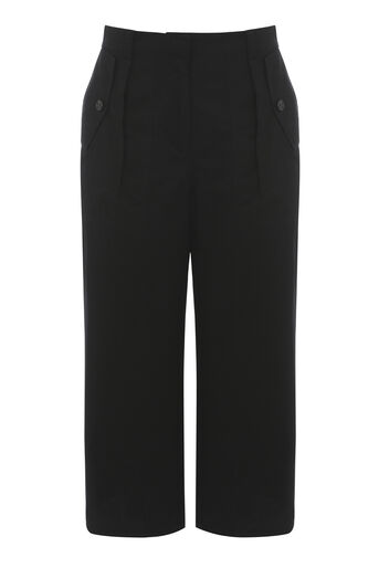 Warehouse, UTILITY POCKET CULOTTES Black 0