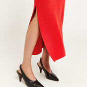 Warehouse, MILANO KNITTED SKIRT Bright Red 4