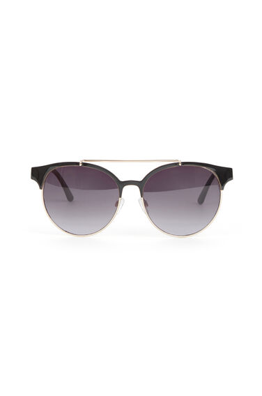 Warehouse, Metal Framed Sunglasses Black 0