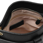 Warehouse, DOUBLE TAB DETAIL CLUTCH BAG Black 4