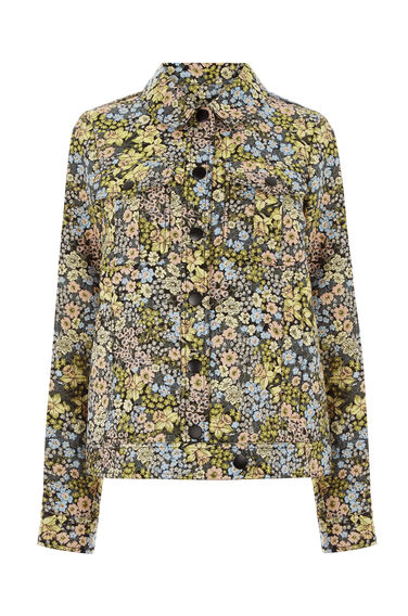 Warehouse, Daffodil Jacquard Jacket Multi 0